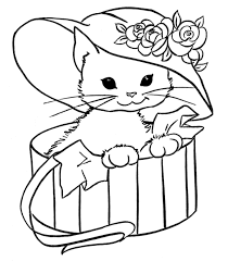 Kitten Coloring Pages For Girls Cats 00 Dibujos De Gatos