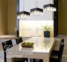 s flush mount modern linear rectangular island dining room crystal chandelier led bar light