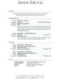 How To Write A Resume For Students Free Resume Examples For High