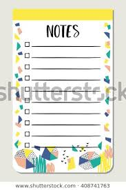 Notes Paper Organized You Planner Template Stock Vector Royalty