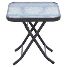patio side table square folding 18