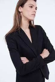 Классический <b>приталенный жакет</b> черный цвет - <b>Жакеты LIME</b>
