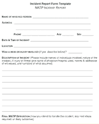 Workplace Incident Report Form Template Free Monster Forms