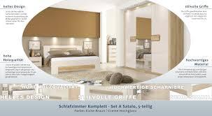 Schlafzimmer Komplett Set A Satalo 5 Teilig Farbe Eiche Braun
