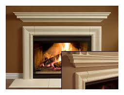 fireplace mantel mantle surround simplicity design cast stone non combustible