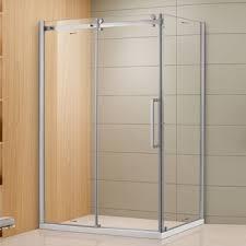 china shower enclosure b054 single slider aluminum frame 8mm thickness tempered glass