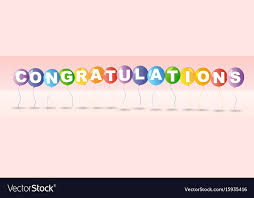 congratulation templates congratulations card template with colorful vector image