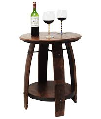 RECYCLED WINE BARREL SIDE TABLE Recycled Wine Barrel Side Table Is