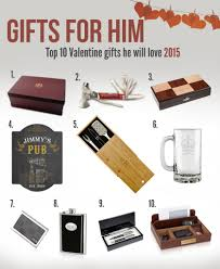 top ten valentine gifts for him of 2016 memorable gifts personalized