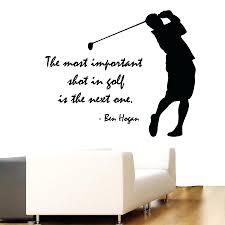 Vinyl Wall Decal Golfter Boy Golf Player Quote Lettering Sport Golf Art Wall  Sticker Golf Centre Wall Sticker Bedroom Decoration 40 Golf Ball Wall Decor  ...