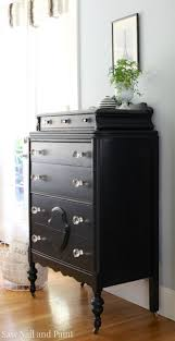 Vintage Dresser - Lamp Black Milk Paint by General Finishes and High  Performance Topcoat Finish.