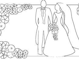 Kleurplaat Bruid En Bruidegom Woyaoluinfo