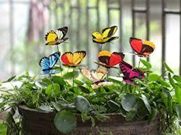 garden decorations. Ginsco 25pcs Butterfly Stakes Outdoor Yard Planter Flower Pot Bed Garden Decor Butterflies Christmas Decorations
