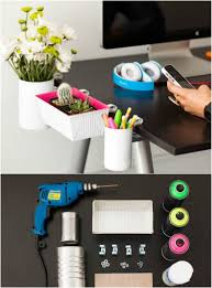 simple desk organizers. Delighful Simple Simple DIY Clip On Desk Organizers Intended