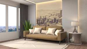 building up modern living room 3d ilration