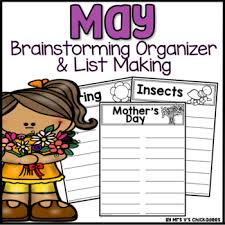 May Writing Activity Brainstorming Organizer And List Making Paper