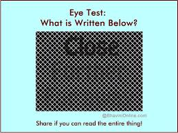 Eye Test What Can You Read In This Picture Bhavinionline