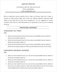 8 Chronological Resume Templates Download Documents In Word A ...