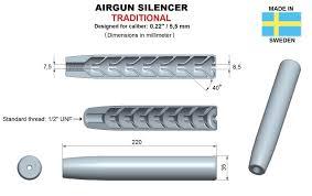 Airgun Silencer Design Airgun Silencer Traditional Caliber 22 3d Print Model