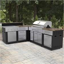 built in patio grill outdoor kitchen drawers gas grill with refrigerator and sink