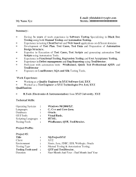 qtp sample resume for software testers free resume example and manual testing  sample resumes - Sample