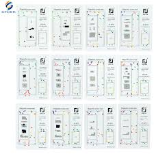 Iphone Chart Details About Repair Tool Guide Magnetic Screws Keeper Chart Mat For Iphone X 8p 7p 7 6s 6 5 4