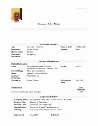 Resume Applicant Applicant Resume Sample Filipino Simple Report