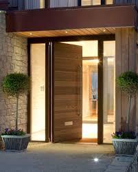 modern front doorsModern Front Door Interior Single Black Door With Silver Steel