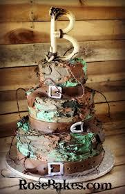 Buttercream Camouflage Grooms Cake Rose Bakes