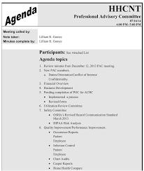 sample agenda sample advisory agenda skiro pk i pro tk