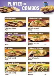 taco cabana plates or bos