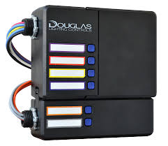 douglas lighting controls four relay circuits four independent dimming channels and an optional two circuit ul 924 expansion pack shown