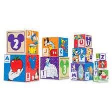 disney disney us formula mickey mouse melissa doug wooden toy cognitive education parallel import goods mickey mouse abc 123 blocks by melissa