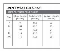Polo T Shirt Size Chart Yonex 1247 Trucool Polo Tshirt