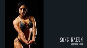 Young asian female bodybuilders