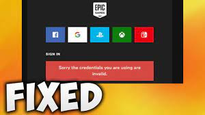How to Fix Sorry the Credential You Are Using is Invalid Error - Epic Games  Launcher Error - YouTube
