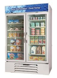 commercial refrigerator freezer upright stainless steel glass mmrf49 1 w led