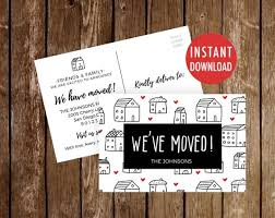 Weve Moved Postcards Template Moving Announcement We Etsy