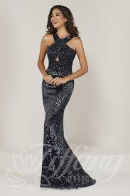 Halter Gown Designs Tiffany Designs 16331 Halter Neck Beaded Prom Gown