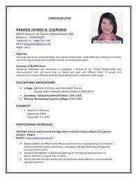 sample resume objective for ojt students sample of resume format sample resumes for it jobs