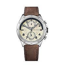 watches for men debenhams tommy hilfiger men s sub dial brown leather strap watch