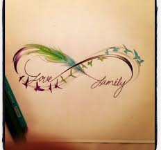 colorful birds flying tattoo.  Birds Nice Flying Colorful Birds Love Family Infinity Tattoo Throughout A