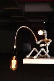 black pipe light socket designer industrial lighting steampunk lamp table lamp vintage black pipe lamp socket black pipe