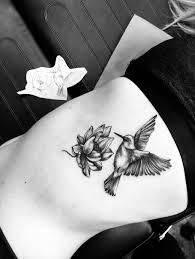 Hummingbird Lotus Flower Tattoo тату тату татуировки и сабо