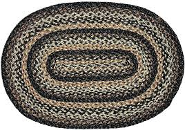 oval jute rug australia black forest braided 4 x 6 ft place
