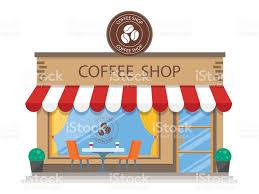 coffee shop building clipart. Simple Clipart Coffee Shop Btiment Icne Plate Vecteur Coffee Shop  U2013 Cliparts Vectoriels Et Throughout Building Clipart I