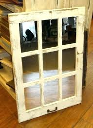 wood window pane mirror old panes for windows barn 9 vertical rustic home decor s