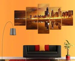 framed printed city at night picture wall art canvas print decor poster modern printing chicago home improvement cast now
