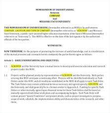 Memo Template For Google Docs Memorandum Of Understanding Template Word Between And