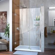this review is from unidoor 47 to 48 in x 72 in frameless hinged shower door in chrome